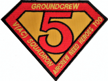 No. V (5) (AC) Squadron RAF Raytheon Sentinel Groundcrew Heroes Embroidered Patch